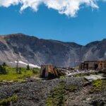 Old gold mine ruins on Imogene Pass San Juan Mountains