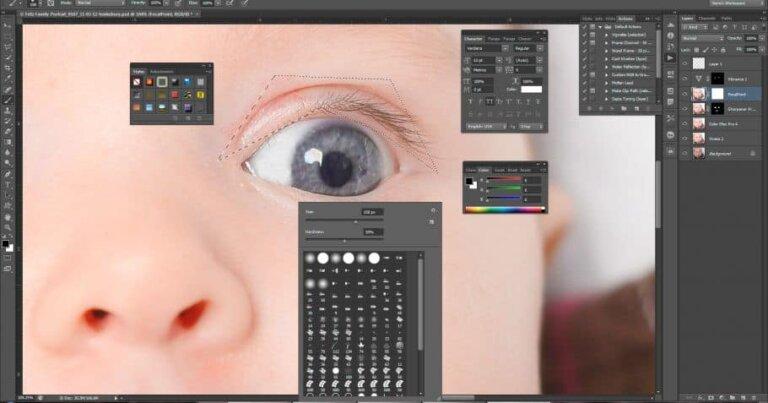Portrait retouching tutorial - header image